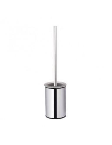 Szczotka WC niska wolnostojąca wkład szklany 9,5 cm x 9,5 cm x 38 cm Stella Classic 07.432