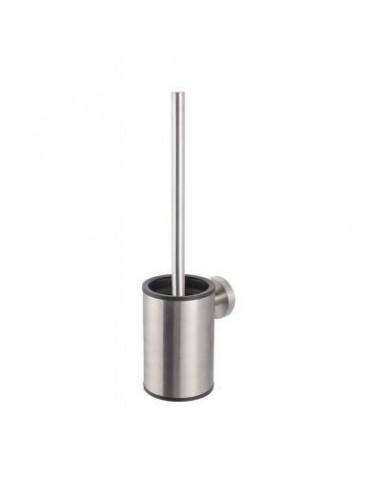 Szczotka WC niska wisząca stal szczotkowana wkład z tworzywa 9 cm x 11,5 cm x 36 cm Stella Classic 07.433-SB