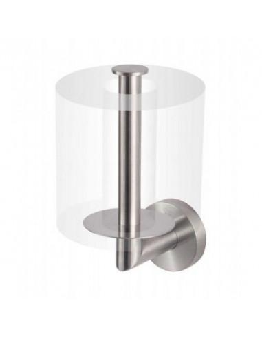 Uchwyt z rozetą na zapasową rolkę papieru toaletowego stal szczotkowana 6,5 cm x 9 cm x 16,5 cm Stella Classic 07.444-SB