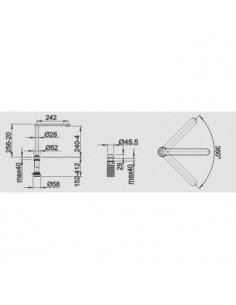 Bateria kuchenna podokienna BLANCO ELOSCOPE-F II chrom 516672