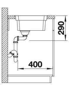 Zlewozmywak kuchenny wpuszczany w blat BLANCO ETAGON 500IF stal szlachetna z korkiem automatycznym, z zestawem szyn 521749