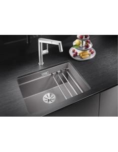 Zlewozmywak kuchenny podwieszany BLANCO ETAGON 500-U 530x460 mm, z zestawem szyn, szarość skały 522228