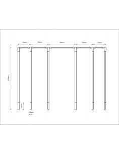 Lampa SHILO DOHAR Alha N 9005 biały/miedziany 9005/G9/BI//MI
