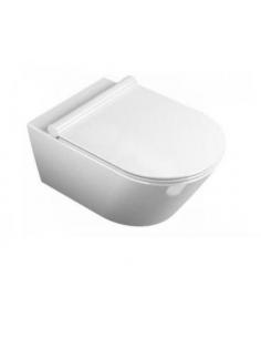 Miska WC wisząca Catalano Zero bezrantowa NewFlush 55 x 35cm biała + śruby mocujące 1VS55NR00