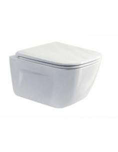 Miska WC wisząca Catalano New Light 37x53 cm bezrantowy NewFlush + śruby mocujące 1VSLIR00