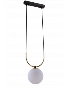 Lampa wisząca 1pł.- Balos czarno-złota Amplex 0407