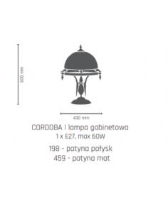 Lampa gabinetowa- CORDOBA I patyna połysk Amplex 198
