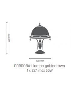 Lampa gabinetowa- CORDOBA II patyna połysk Amplex 208