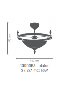 Plafon- CORDOBA II patyna połysk Amplex 210