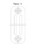 Grzejnik industrialny,loftowy Instal Projekt TUBUS TUB2, 6 elementów,wysokość 200 cm,podłączenie D50,kolor lakier bezbarwny